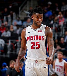 Reggie Bullock is putting up the points for the Detroit Pistons.